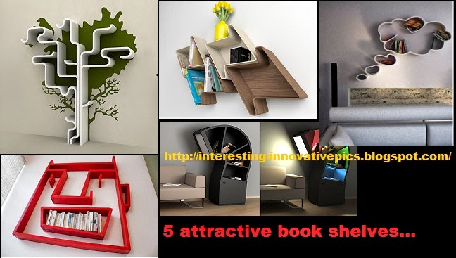 5 creative wall mounted bookshelf designs