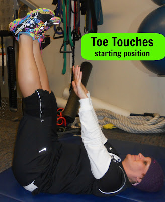 toe touches starting position