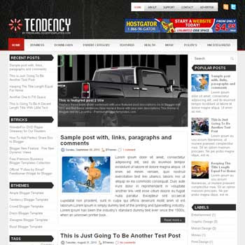 Tendency blog template. template image slider blog. magazine blogger template style. wordpress theme to blogger. template blog 3 column