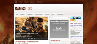 Gamesblog Blogger Template