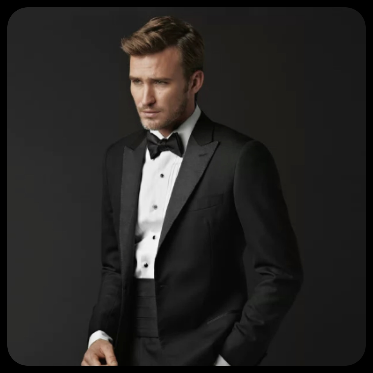how to look good in a tux