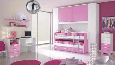 foto habitación juvenil rosa