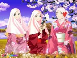 3* GADIS MUSLIM KIMONO