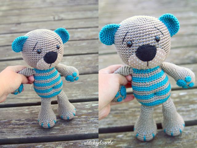 stitchydoo: Tummy Teddy | Ein gehäkelter Teddy mit ganz besonderen Details