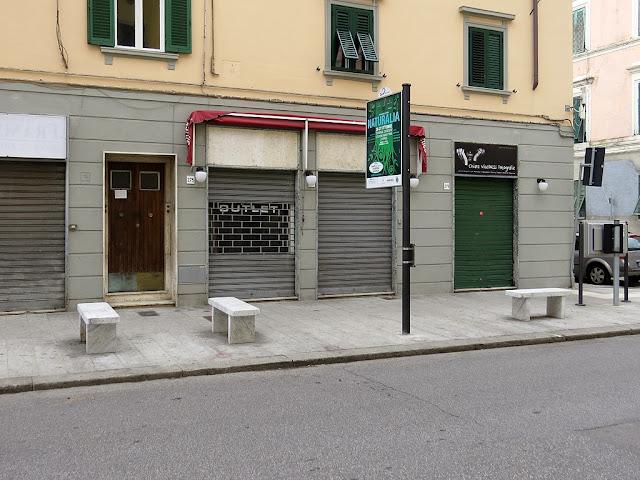 Benches, corso Mazzini, Livorno