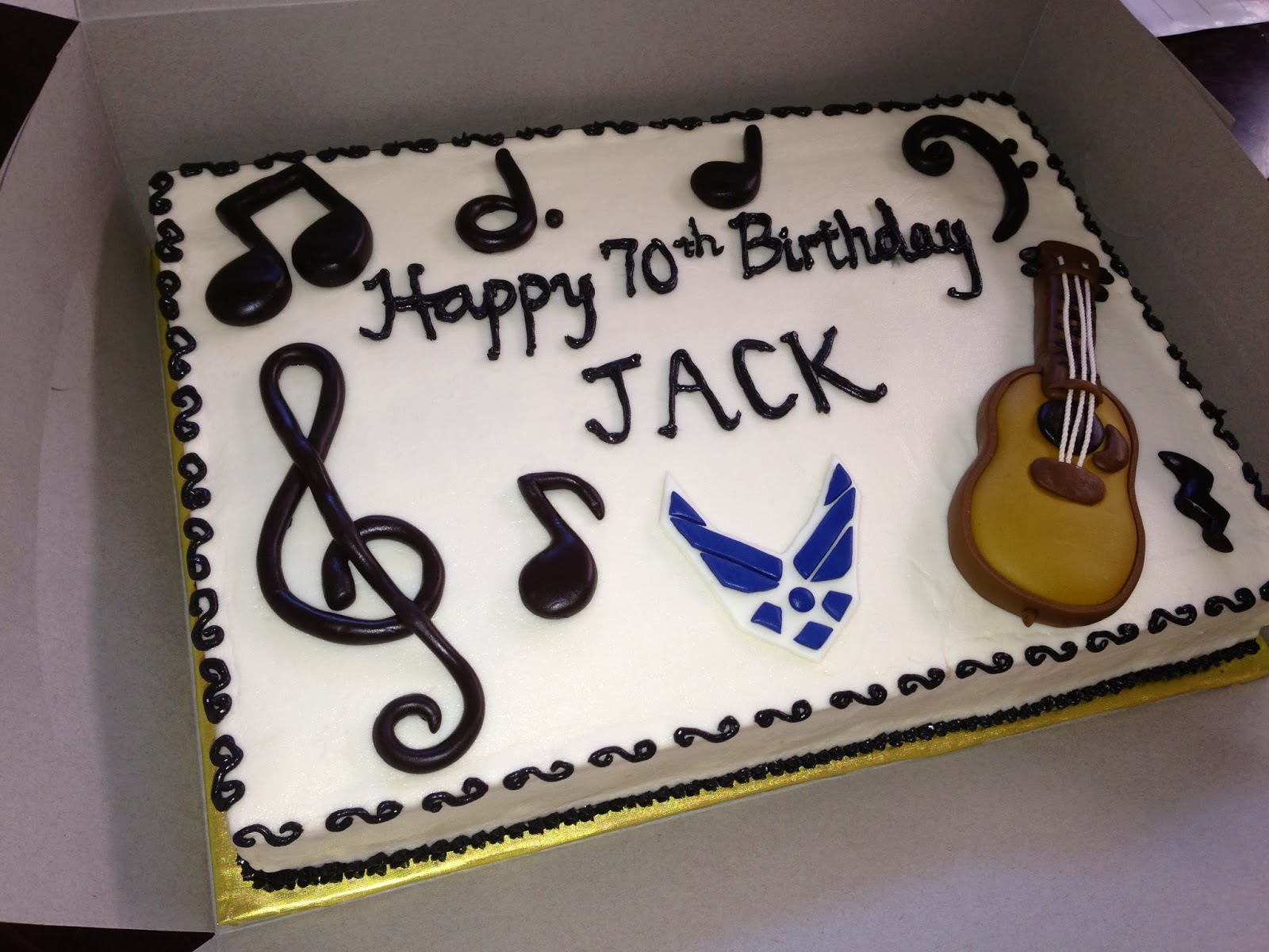 Joyce Gourmet Musicians 70th Birthday Cake