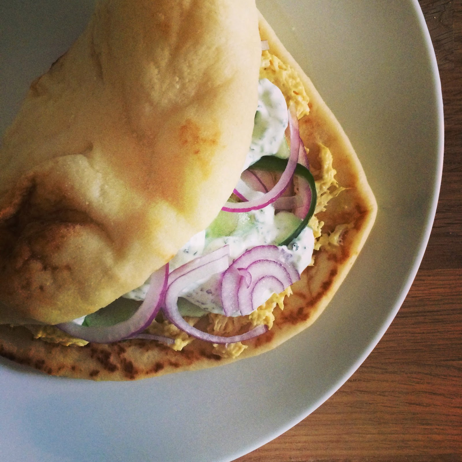 Holly likes to cook: Coronation Chicken Naan Sandwich