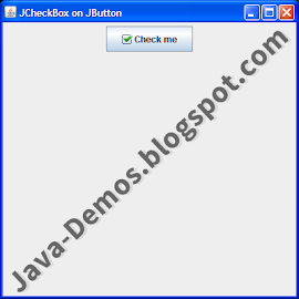 Screenshot of JCheckBox on JButton