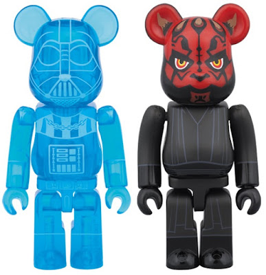 Star Wars Sith 100% Be@rbrick 2 Pack by Medicom - Holographic Darth Vader & Darth Maul