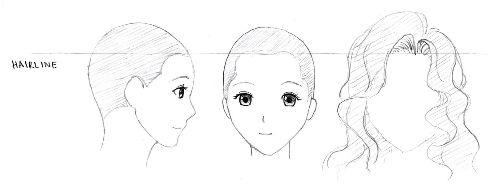 Drawing Hairlines : Johnnybro s how to draw manga hair