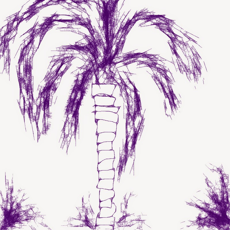 Indigo Palm Tree