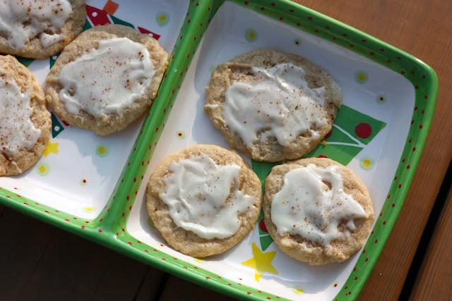 Eggnog Cookies with Eggnog Glaze