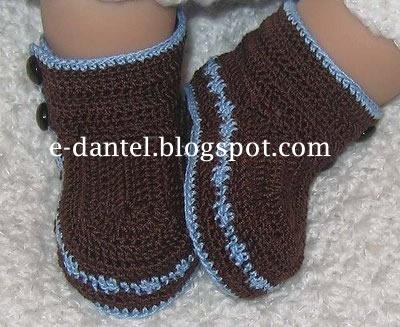 Çizme Şeklinde Bebek PAtik Mdoeli