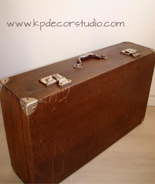 KP. Vintage. Comprar maletas antiguas de madera. Cajas