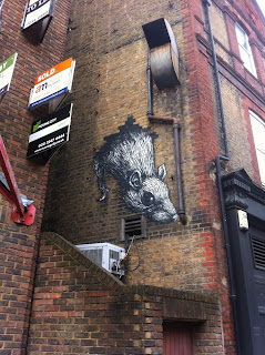 Street art, New Goulston Street, Spitalfields, London E1