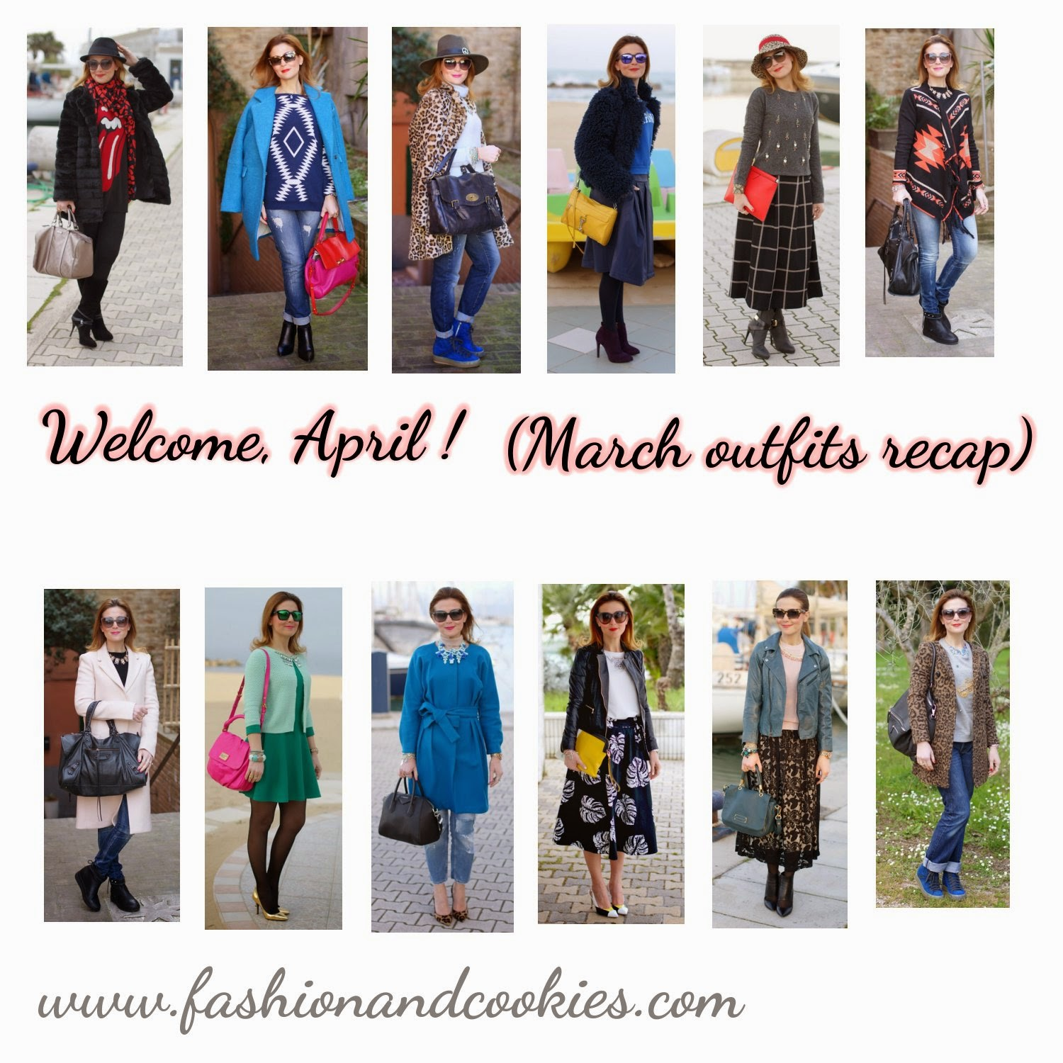 welcome april, march 2014 outfits recap, Fashion and Cookies, fashion blogger