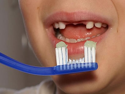Cepillo de dientes gracioso