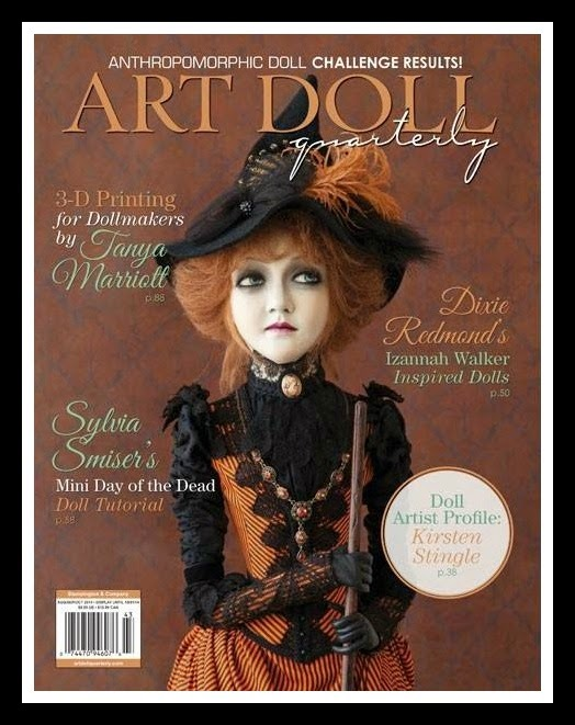 See my 1st article published in the August 2014 issue of Art Doll Quarterly on page 6