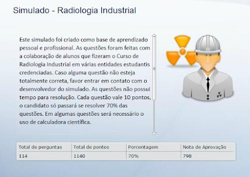 Simuladão - Radiologia Industrial [114 Questões]