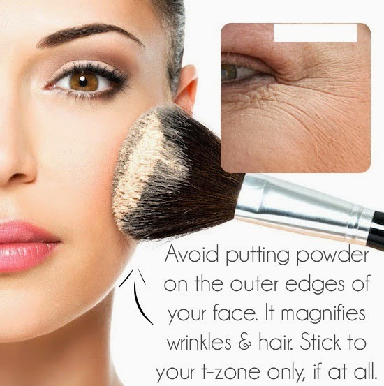 Wearing Face Powder