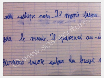dysgraphie rééducation écriture cursive