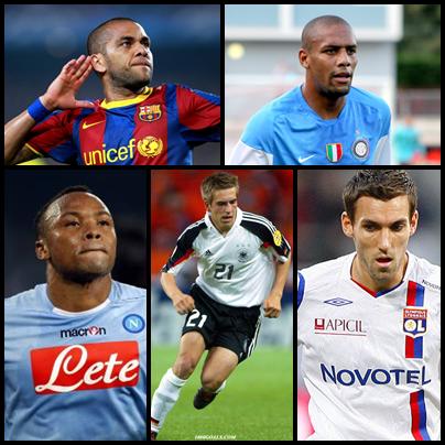Melhores laterais direitos do pro evolution soccer 2013