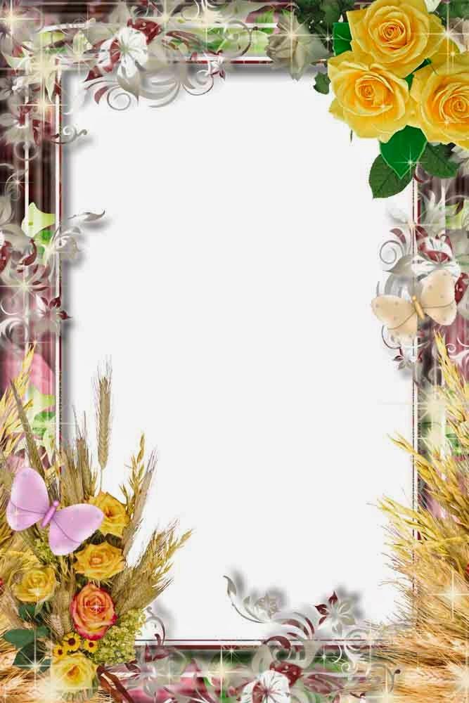 http://4-designe.blogspot.com/2015/01/flower-frame.html