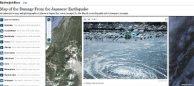 Terremoto de Japón videos fotos y mapas online