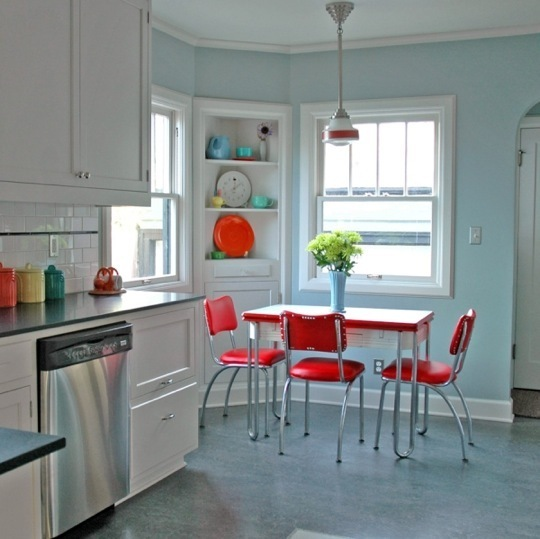 Pale Aqua Kitchen Cabinets
