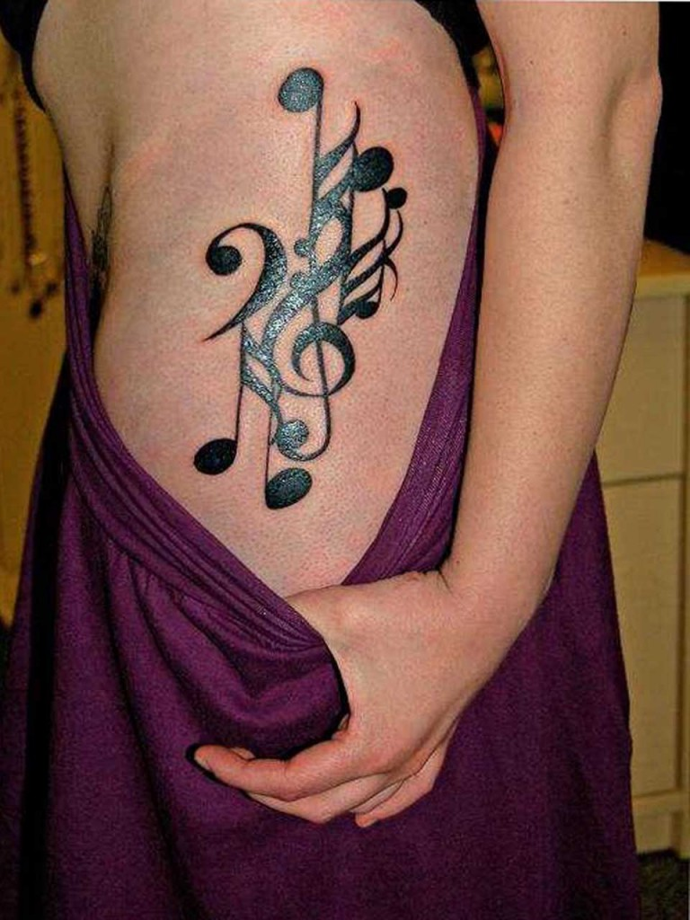Music tattoo designs tattoo ideas pictures tattoo ideas pictures - Tattoo Designs Stars And Music Notes Brainsy Heart Music Tattoo Design