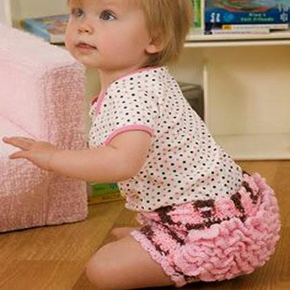 Ruffle-Bottomed Baby Girl Soakers