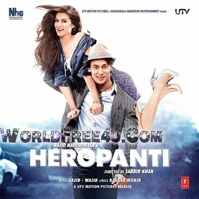 Poster Of Hindi Movie Heropanti 2014 Full HD Movie Free Download 720P Watch Online