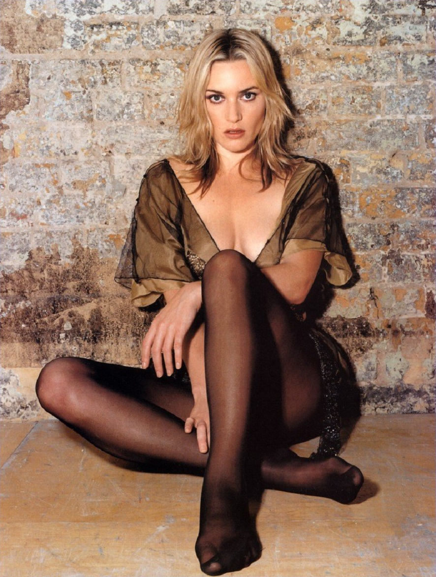 Legs and toes kate winslet looking so sexy in a short designer dress