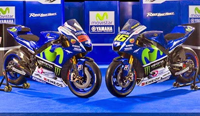 Tampilan Motor Yamaha MotoGp YZR M1 2015 Terbaru
