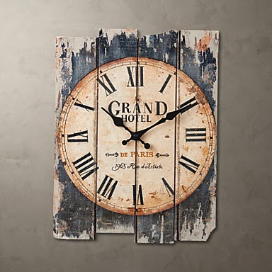 Reloj de pared Grand Hotel vintage