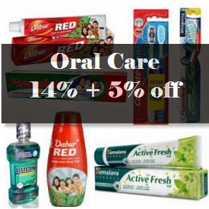 Shopclues: Buy Oral Care Products Extra 14% off + 5% off from Rs. 14