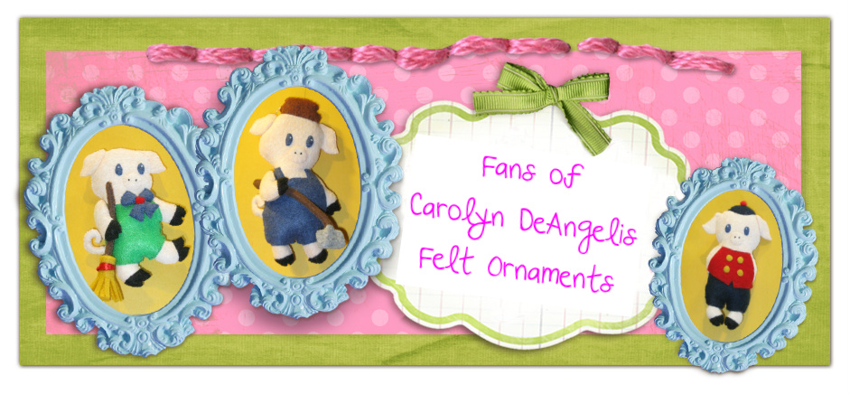 Fans of Carolyn DeAngelis Felt Ornaments