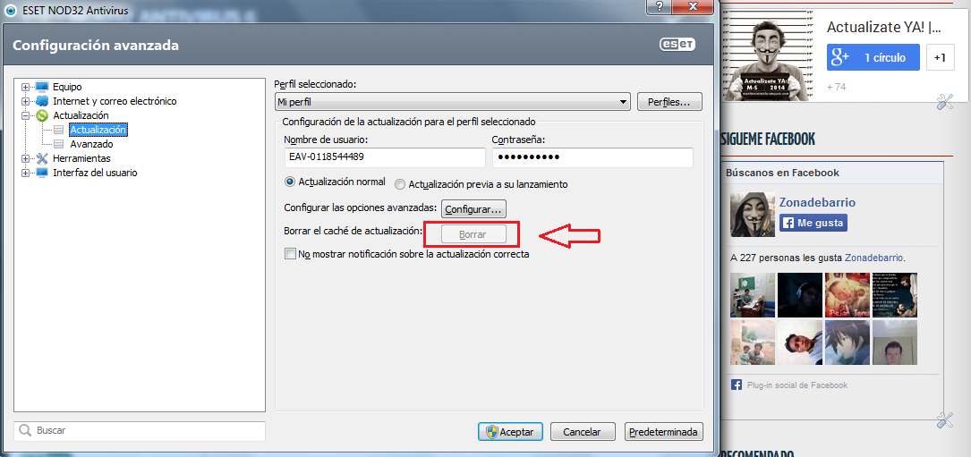 Como Solucionar error de Actualizacion en NOD32 y Smart Security