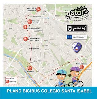 Plano bicibús Santa Isabel