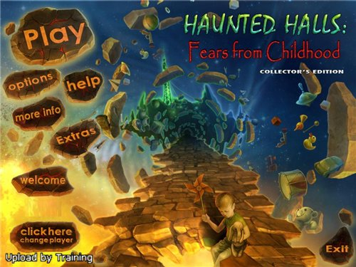 Haunted Halls 2: Fears from Childhood Collector's Edition main menu