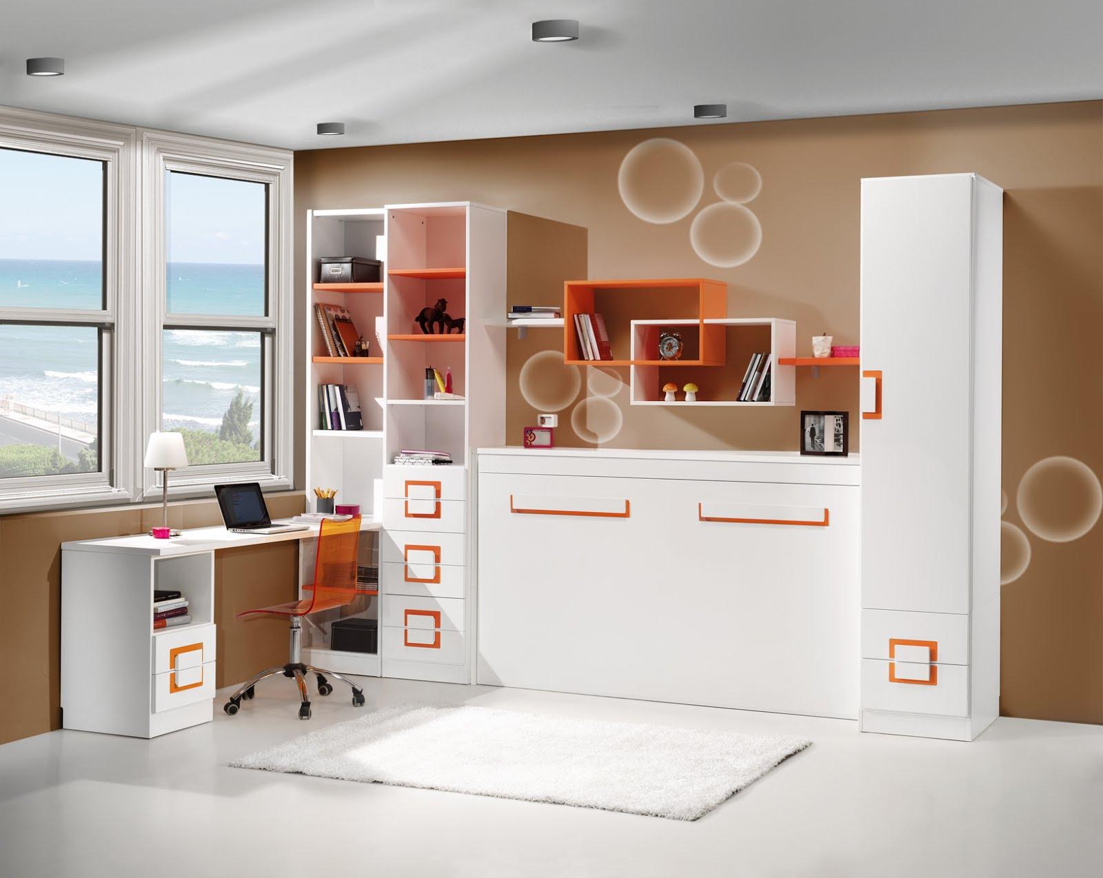 Dormitorios con camas abatibles literas abatibles for Dormitorios cama 1 05