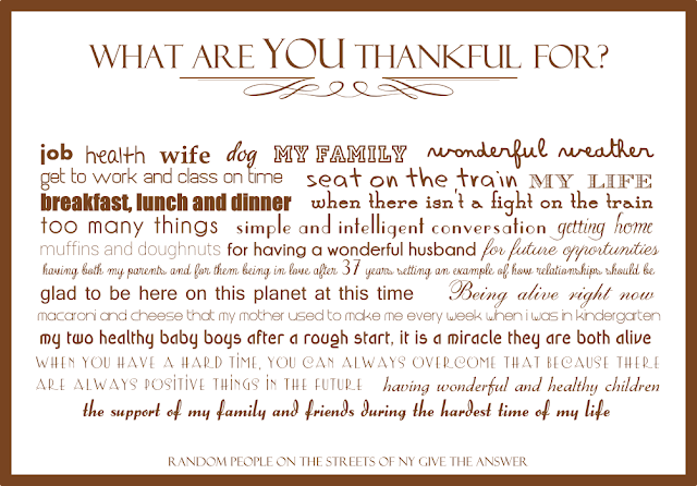 What are you thankful for card from BistrotChic