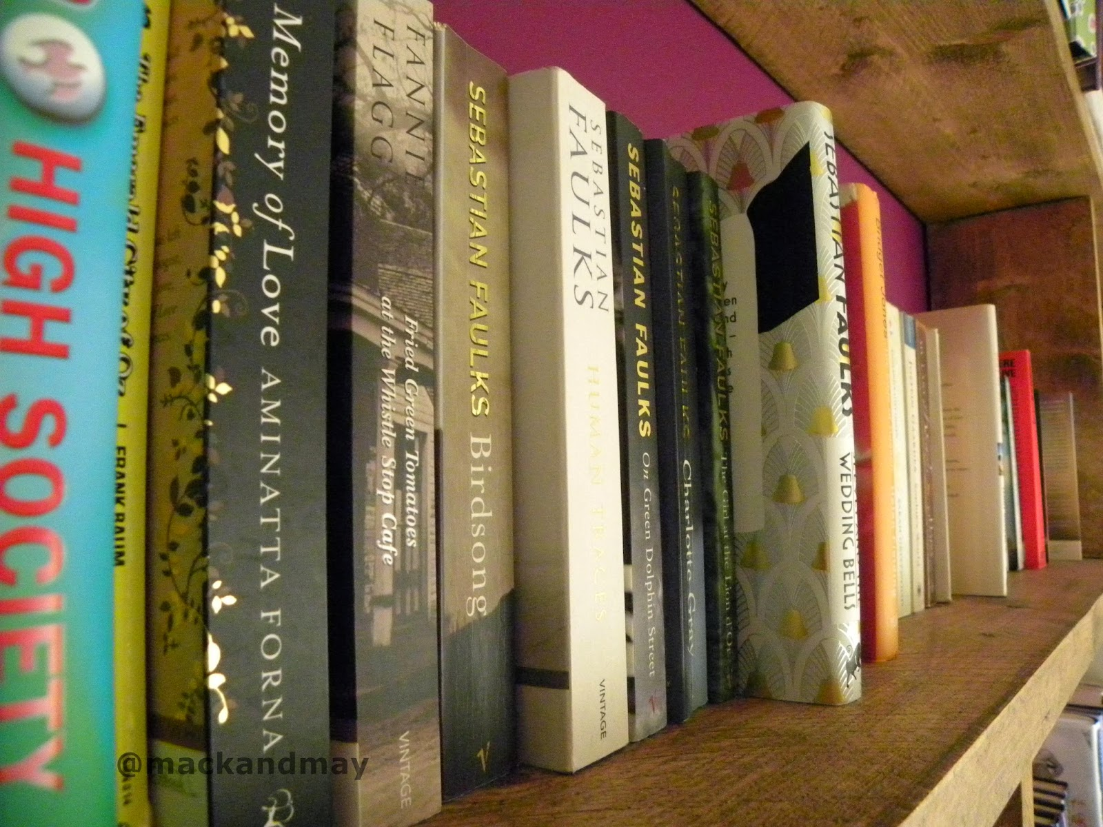 photo of bookshelf and books