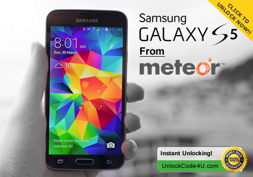 Factory Unlock Code for Samsung Galaxy S5 from Meteor Ireland