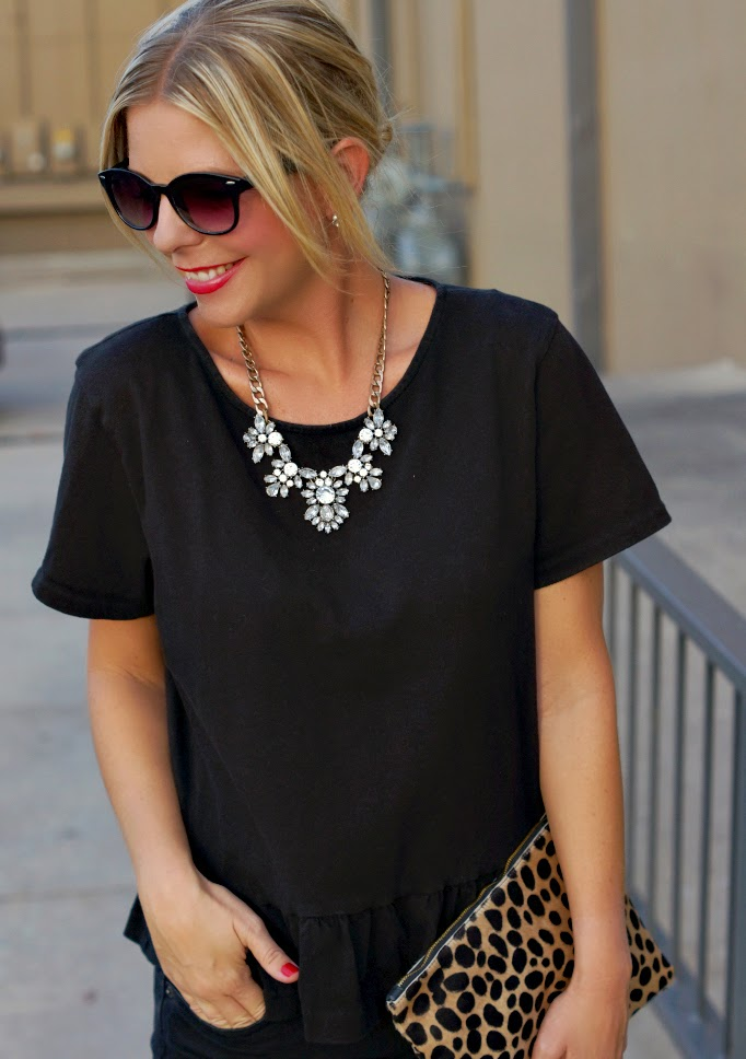 Statement necklace rhinestone