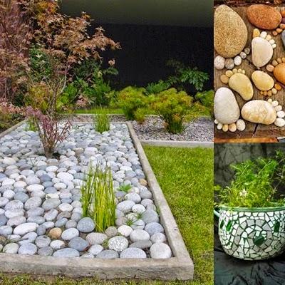 Reciclar y decorar con piedras una piedra en el camino - Decorar jardin con piedras ...