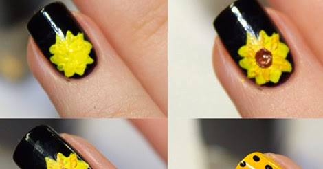 as Sunflower Nail Art