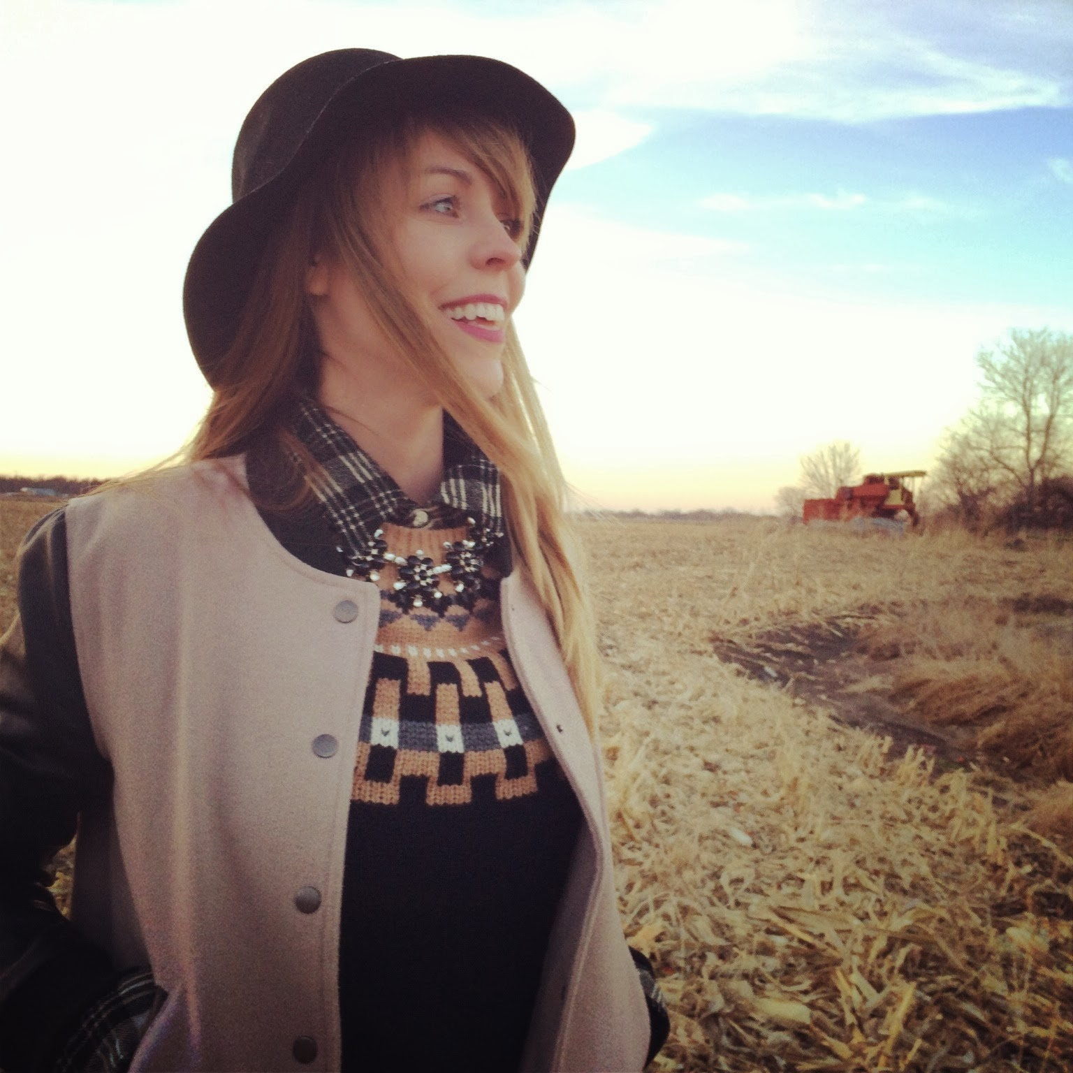 Nebraska, cornfield, Madewell, Topshop, Plaid, Denim, Fashion, Casual, Roots