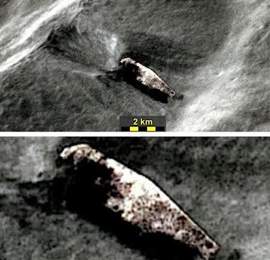 ovni nave extraterrestre estrellada en la luna