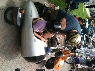 Kid in sidecar